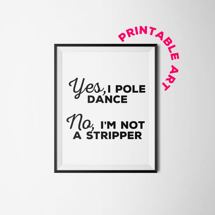 Pole Dancer printable wall art dancer art by WinkingPrints on Etsy