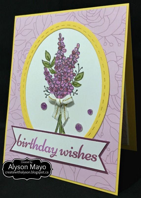 Birthday Wishes - lavender bouquet