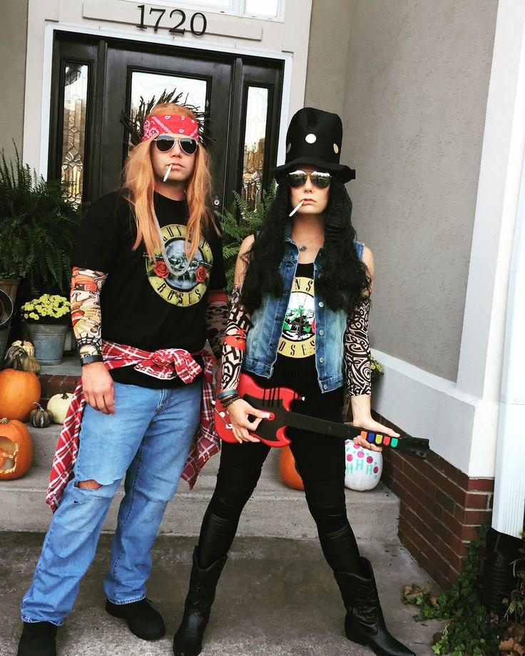 Guns-N-Roses Halloween couple costume