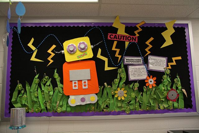 Robot themed classroom! It'ssss Awesome!