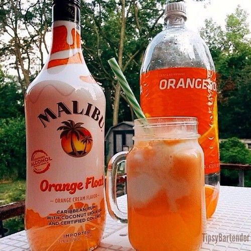 ▃▃▃▃▃▃▃▃▃▃▃▃▃▃▃▃▃▃▃▃ MALIBU ORANGE FLOAT 2 oz....   Tipsy Bartender