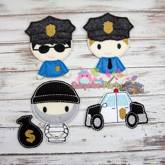 Cops And Robbers Finger Puppets Busy Time by SurprisePartyShop