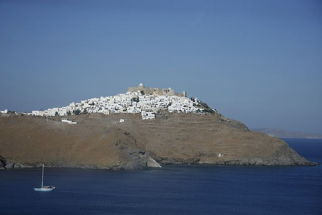 Astipalea  Its name derives from Astypalaia, the daughter of the Phoenician Perimidis, while in older times it was also known as Ichthioessa, due to great number of fishes.