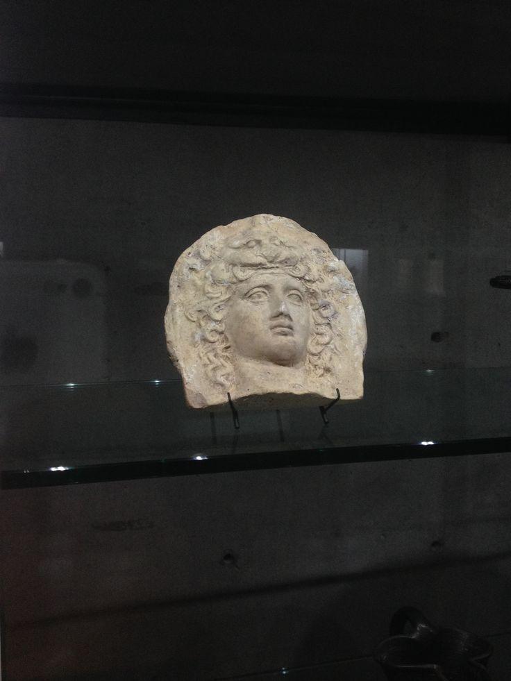 Wearing Hercules inspired lion skin on head