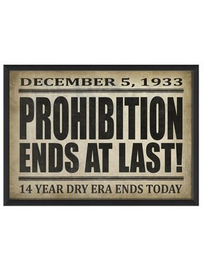 Prohibition Ends at Last by Artwork Enclosed on Gilt Home