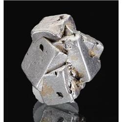 NATIVE PLATINUM CRYSTALS Kondyor Massif, Khabarovskiy Kray, Aldan Province, Saha Republic, Yakutia, Eastern-Siberian Region, RussiaExtremely sharp platinum group composed of cubic crystals of this rare species.