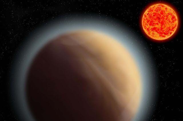 Ilustrasi planet Bumi super GJ 1132b dan bintang induknya. Kredit: Max Planck Society     SpaceNesia - Para astronom berhasil mendeteks...
