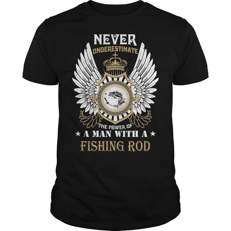 A MAN WITH A FISHING ROD T-Shirts, Hoodies. SHOPPING NOW ==► https://www.sunfrog.com/Outdoor/A-MAN-WITH-A-FISHING-ROD-Black-Guys.html?id=41382