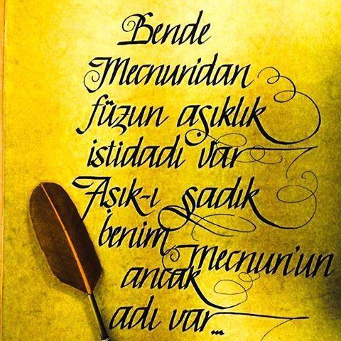 Bende Mecnûndan füzûn âşıklık istidâdı var Âşık-i sâdık benim Mecnûnun ancak adı var. . . . .  #leylailemecnun #leylamecnunaşkgörsün #leylailemecnunuunutmadık @emr.karabulut  #leylailemecnunyeniden #leylamecnunaşkgörsün #aşk #ask #aşkım #kaligrafi #kaligrafia #caligrafia #design #fuzuli