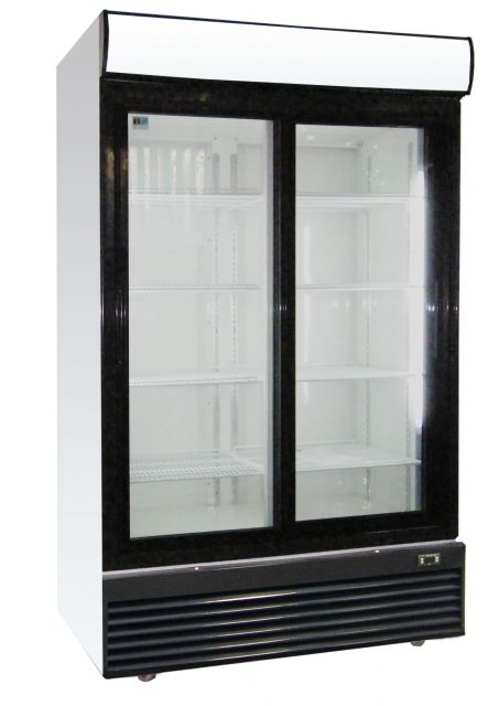 Glass door cooler from 400 liter