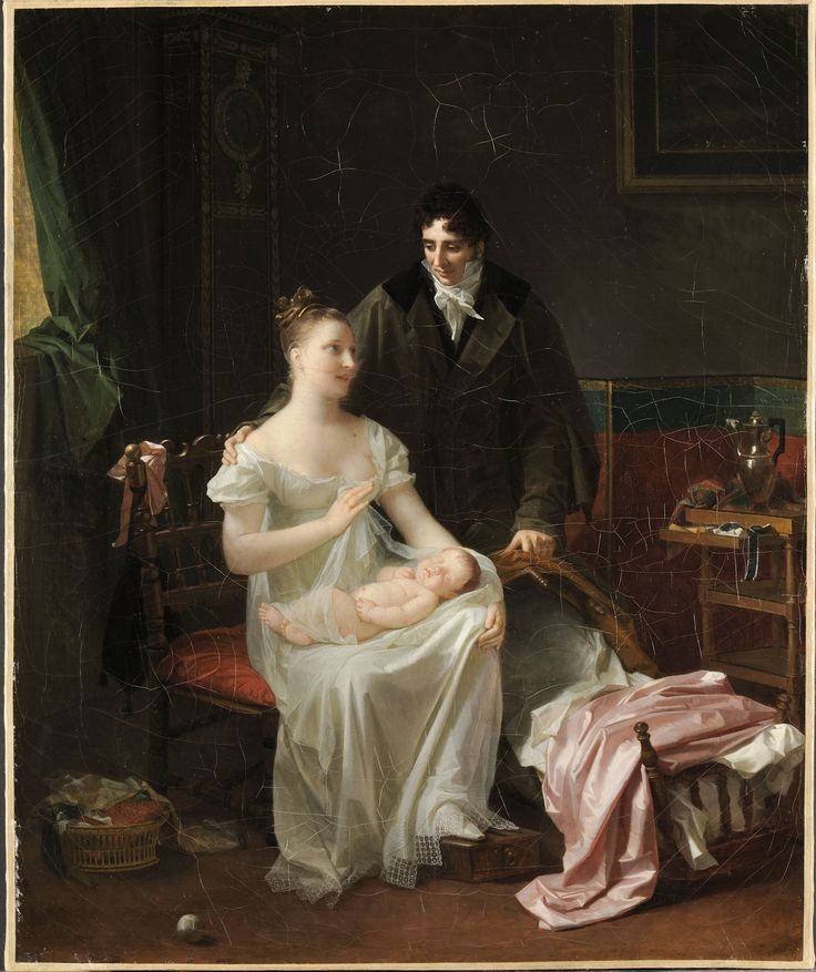 Marguerite Gerard, Motherhood, ca. 1804; Oil on convas; Musee des Beaux-Arts