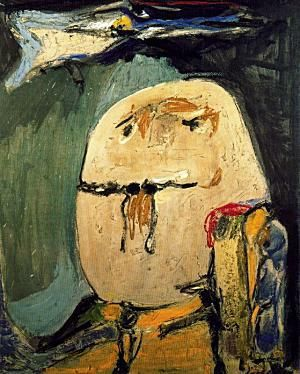 Asger Jorn || Guillaume Apollinaire || 1956 || Paint on canvas