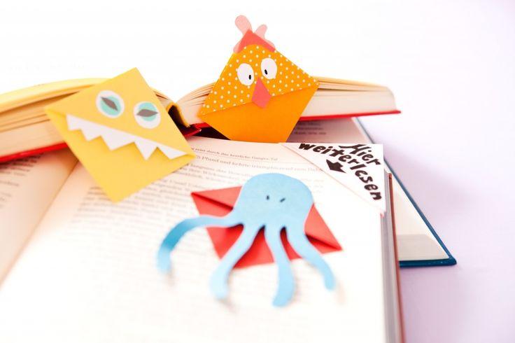 Lesezeichen basteln: Eine ganz einfache Step-by-Step-Anleitung zum Lesezeichen basteln. Auch für Kinder geeignet.
