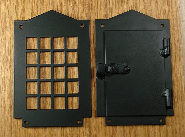 Door peep hole ...Google Image Result for http://www.wildwesthardware.com/hinges/craftsman_style_iron_door_viewer_bpc%2520copy.jpg