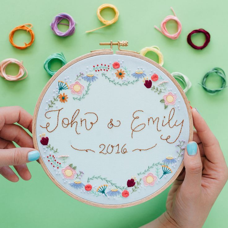 We have your perfect project inspo! Embroidered wedding hoop makes the perfect DIY wedding gift in under $30!