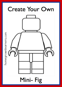 Two sets of Create Your Own Minifigure printables: one for girls and one for boys. From @Mary Prather (Homegrown Learners)