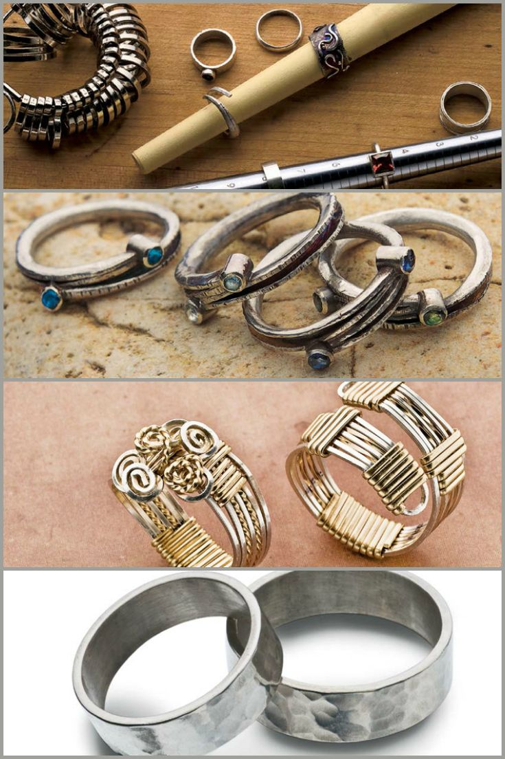 Jazz up your hands with these 3 FREE DIY ring making designs! From wire-wrapped rings, settings stones & soldered stack rings, there's a DIY style for everyone!  #diyrings #jewelrymaking