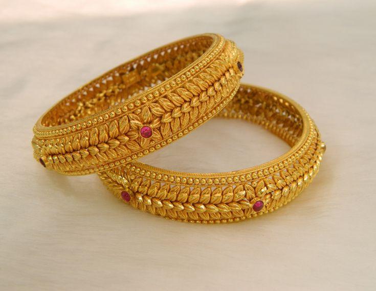 Bangles / Bracelets / Kada - Gold Jewellery Bangles / Bracelets / Kada (BG64766476-2.4) at USD 2,933.76 And GBP 2,330.94