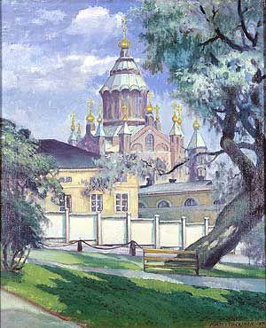 Matti Taskinen, maalaus 1934.  Uspenskin katedraali.