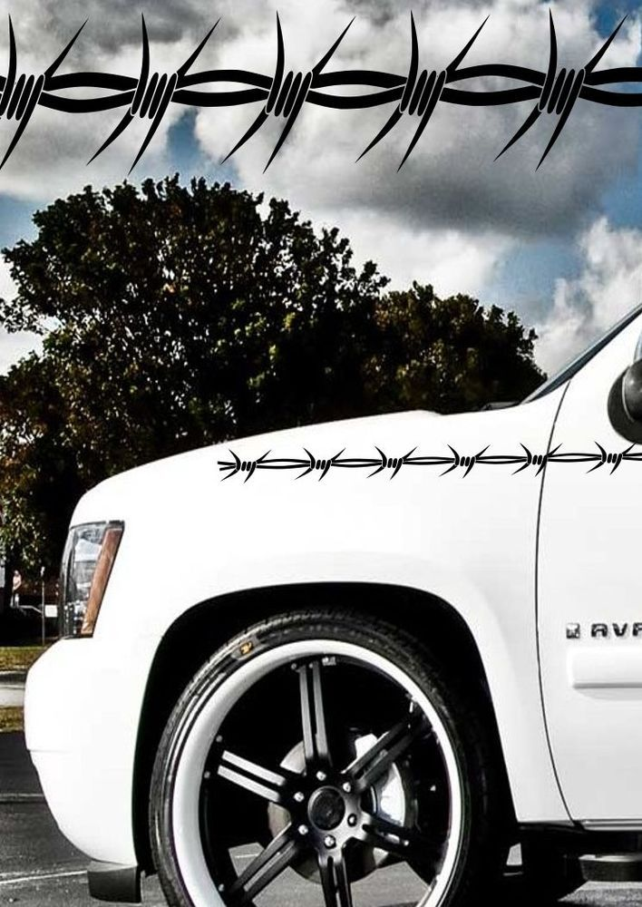 Best Barbed Wire Images On Pinterest Jewelry Barbed Wire And - Barb wire custom vinyl decals for trucks