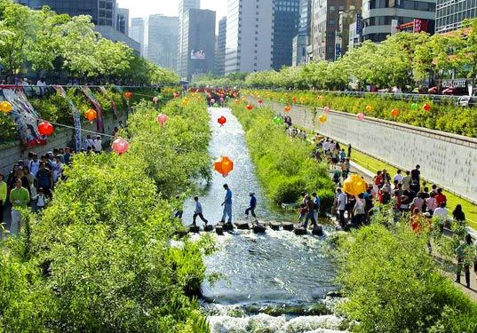 Seoul Transforms a Lost Stream Into an Urban Park | Inhabitat - Sustainable Design Innovation, Eco Architecture, Green Building