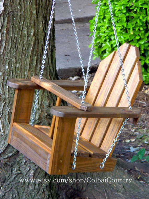 Kid Toddler Child Tree or Porch Wooden Swing or by ColbaiCountry, $104.00