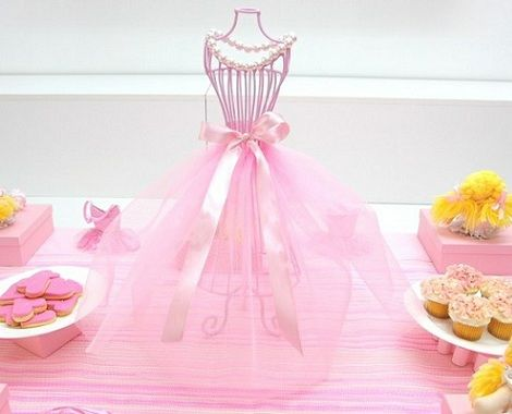 Centros de mesa economicos y originales para cumplea os for Ballerina party decoration