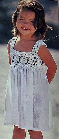 Сарафанчик для девочки на рост 92 (2-4 года) / Вязание крючком / Детская одежда крючком. Схемы