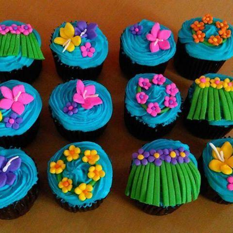 Resultado de imagen para cupcakes hawaiano
