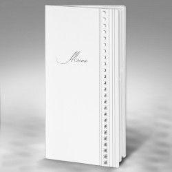Price for pack of 10 personalised and printed wedding menus.