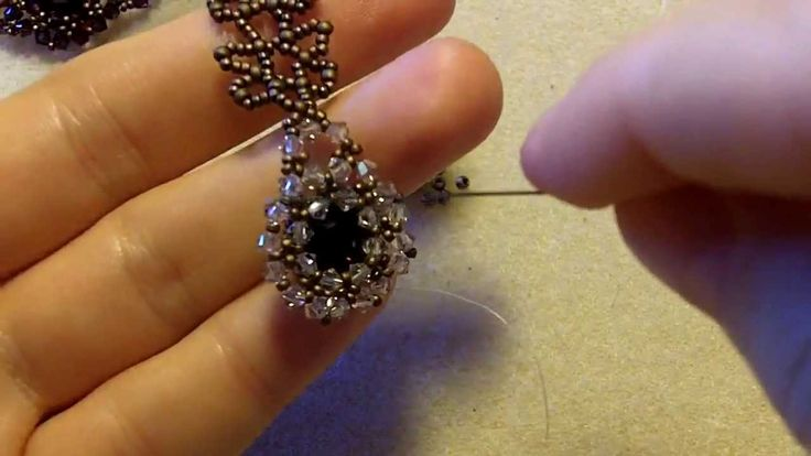 Sidonia's handmade jewelry - How to bezel an 8mm Swarovski chaton #Seed #Bead #Tutorials