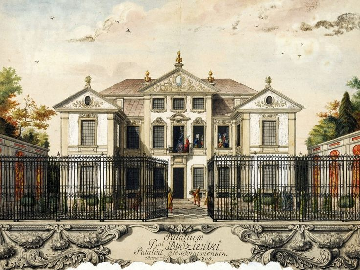 Bidziński Palace in Warsaw by Anonymous Painter, ca. 1705 (PD-art/old), Nationalmuseum in Stockholm