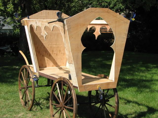 How to make a hearse. Could also be used for traders' wagons or royal coaches.