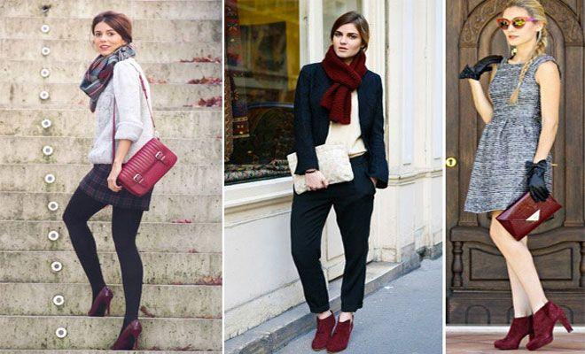 El color burdeos es un color con energía y muy femenino. Te enseñamos con qué colores combinan mejor los zapatos burdeos. Te gustan nuestras opciones?