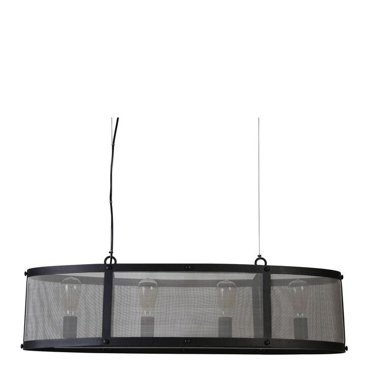 Hanglamp Lancelot is een moderne lamp met een geheel eigen look. De zwarte hanglamp van het merk Light & Living bestaat uit fijn gaas in een stevig frame. Je brengt een flinke dosis stijl in je woonkamer met dit pronkstuk!