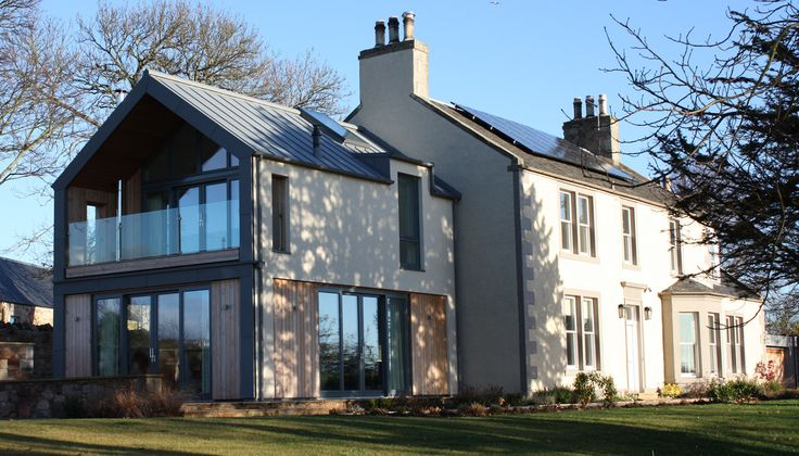 Contemporary Two Storey Extension And Complete Refurbishment Of An Existing 18th Century Farmhouse In A Stunni Modern House Exterior House Exterior Rural House