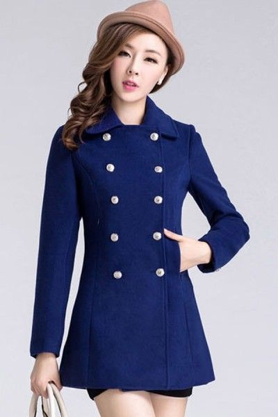 Double-breasted Slim Coat #ShopSimple