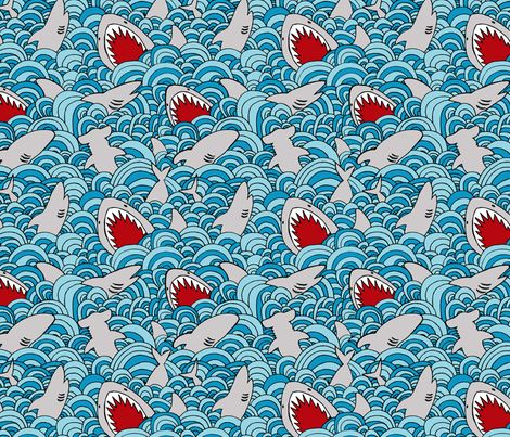 of shark-infested waters and ferocious jaws. plus Japanese-inspired waves.  thanks everyone for all your lovely comments!