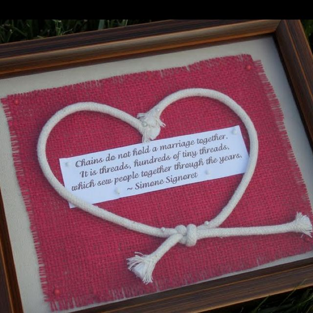 Wedding Gifts For Parents The Knot : this as an anniversary idea. Would work for a parents anniversary gift ...