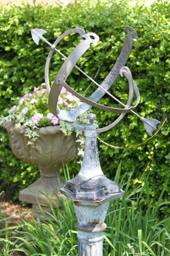 Sundial and impatiens