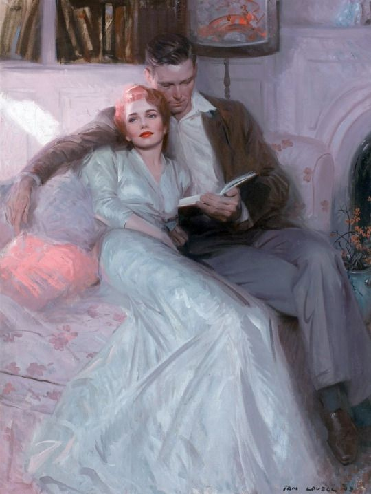 111 best vintage romance art images on pinterest romance art tom lovell back comes the bride ladies home journal illustration oil on canvas 41 x inch find this pin and more on vintage romance art sciox Gallery