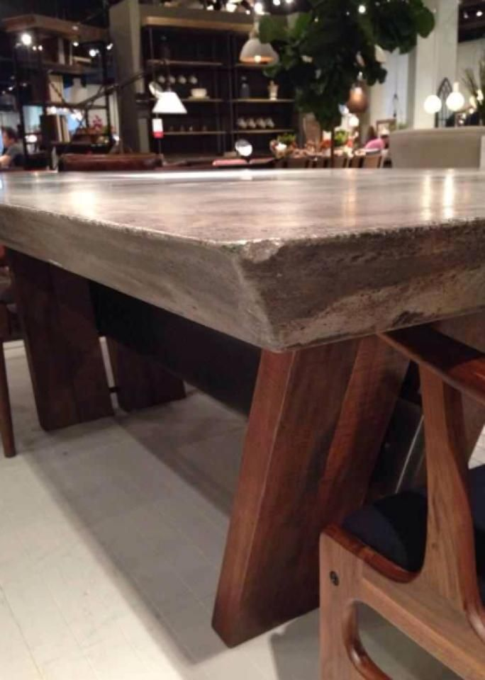 The Combined Elements Of Concrete And Wood In This Dining Table Will Give  Your Space An Eclectic And Dynamic Aesthetic. Would You Use This Unique  Table In ...
