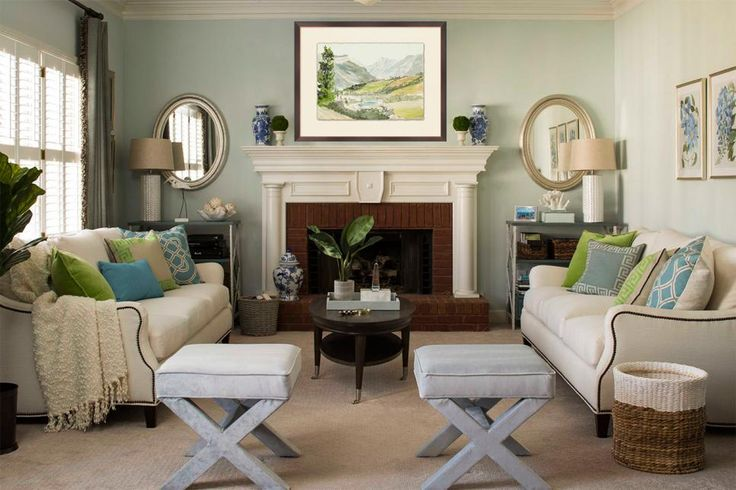 Best 15 Ways To Decorate With Soft Sage Green Fireplaces 400 x 300