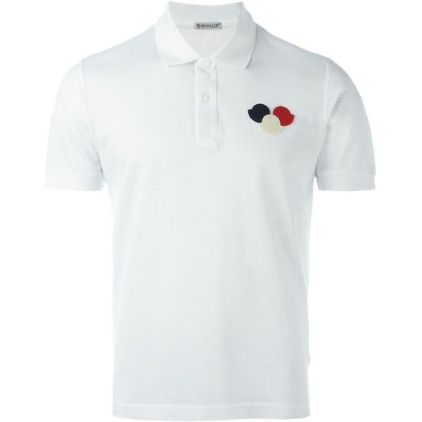 Moncler logo polo shirt Eraldo (3.060 ARS) ❤ liked on Polyvore featuring tops, moncler top, polo shirts, logo top, moncler and logo polo shirts
