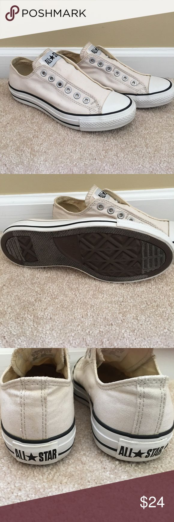 Converse sneakers. Good condition. Off white Converse sneaks. Worn a few times. In good condition. Soles very clean. Converse Shoes Sneakers