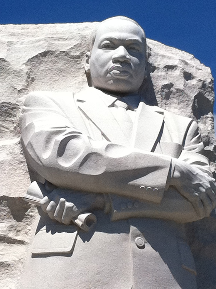 """MLK Memorial  - """"Injustice anywhere is a threat to justice everywhere. We are caught in an inescapable network of mutuality, tied in a single garment of destiny. Whatever affects one directly, affects all indirectly."""" Letter from Birmingham, Alabama jail, April 16, 1963."""