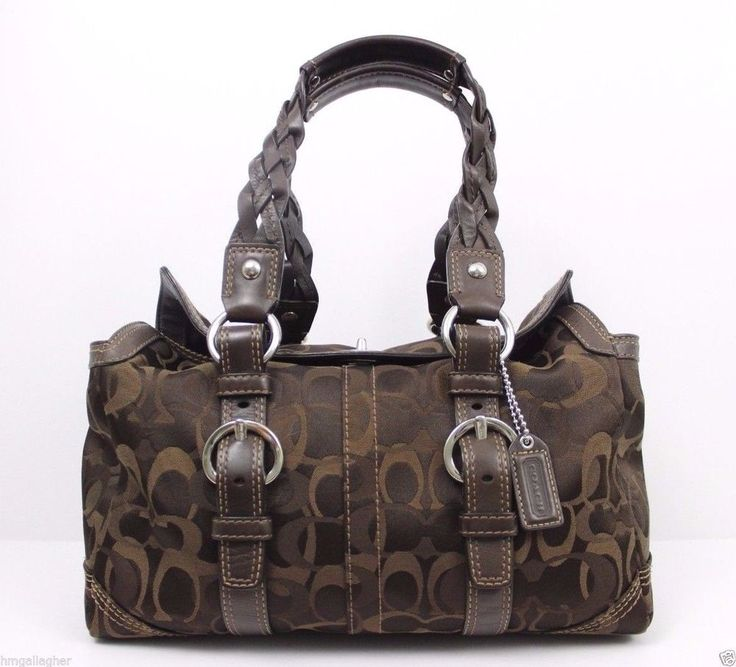 367cf04d4f ... COACH Chelsea Optic Signature Satchel Bag Purse 10995 Chocolate ~ XLNT  ...