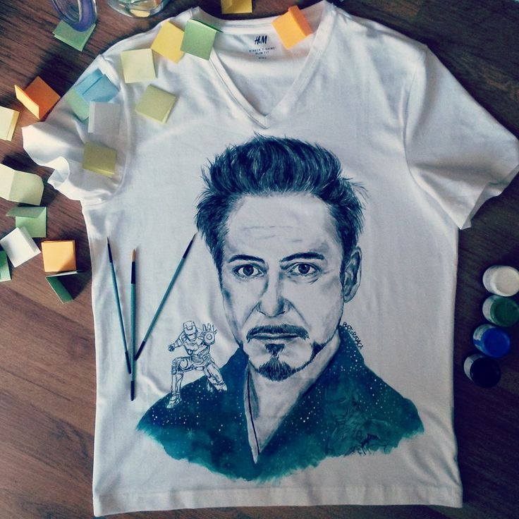 Robert Downey Jr Hand-painted t-shirt