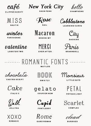 25 of my favorite downloadable fonts to use for parties, invitations, Christmas cards, and #Wedding cards