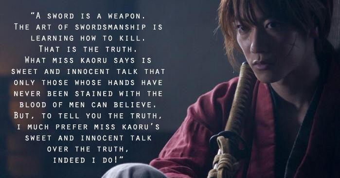 Memorable Lines From Rurouni Kenshin   Millennials in Manila
